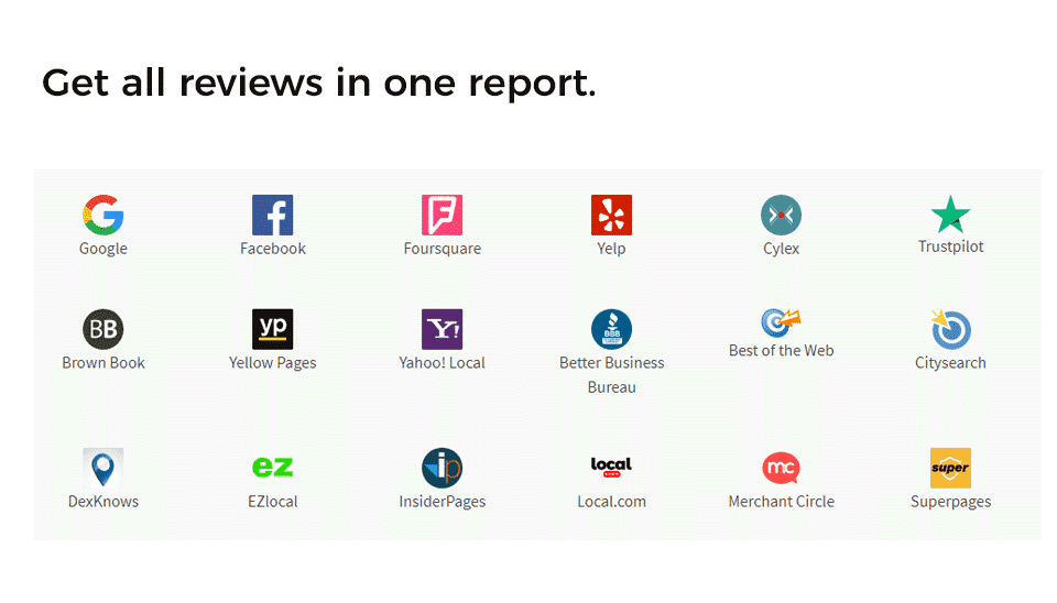 All Reviews on One Report