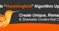 Google Hummingbird Algorithm Update
